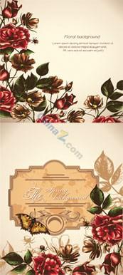Link toRetro floral background vector
