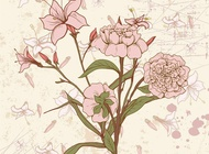 Link toRetro floral card vector free