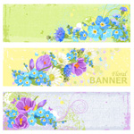 Link toRetro flower banner vector