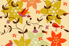 Link toRetro flowers backgrounds vector