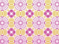 Link toRetro flowers pattern vector free
