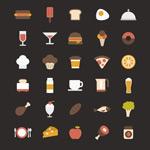 Link toRetro food icon vector
