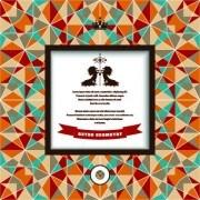 Link toRetro geometry advertising background vector 01
