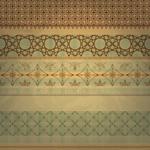 Link toRetro gold border vector
