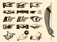 Retro hands vectors free