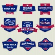 Link toRetro high quality labels 02 vector