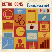 Link toRetro icons business vector free