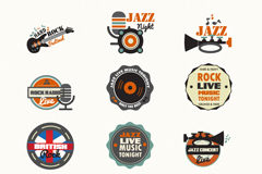 Link toRetro jazz icon vector