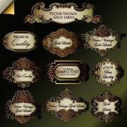 Link toRetro label luxury design vector 02