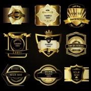 Link toRetro label luxury design vector 05