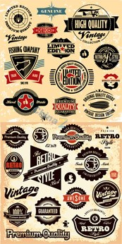 Link toRetro label stickers and badges vector