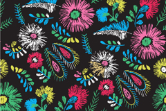 Link toRetro lead-colored floral background vector