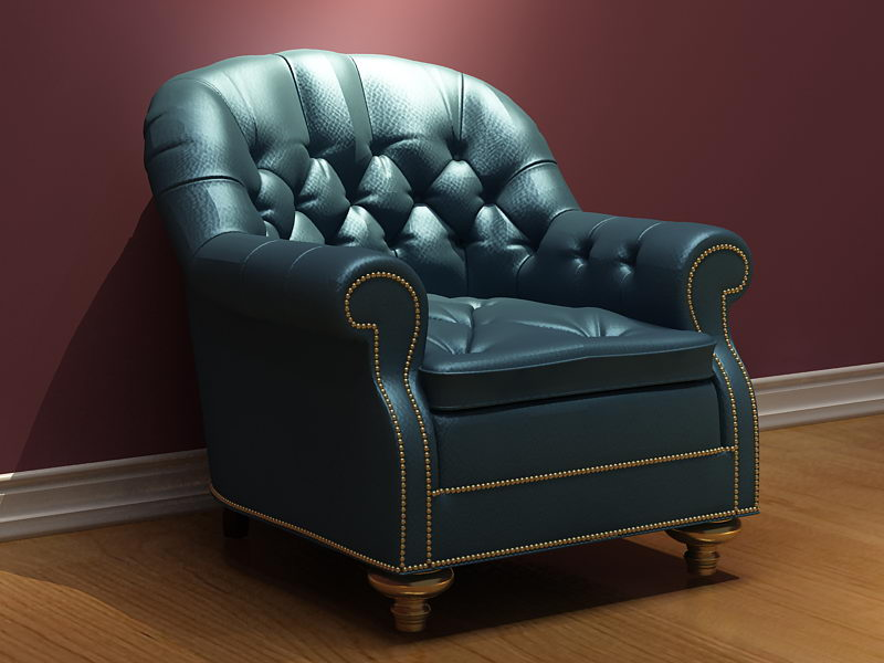 Link toRetro leather sofa 3d model (including materials)