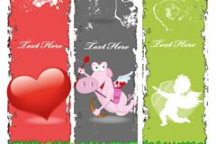 Link toRetro lovely angel banner design vector