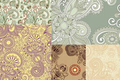 Link toRetro paisley patterned background vector