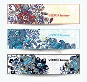 Link toRetro pattern banner template vector