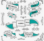 Link toRetro pattern with ribbon vector