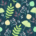 Link toRetro plants background vector
