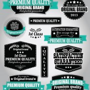Link toRetro premium quality labels with ribbon vector 03 free