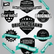 Link toRetro premium quality labels with ribbon vector 04 free