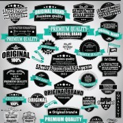 Link toRetro premium quality labels with ribbon vector 06 free