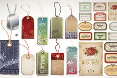Link toRetro product hang tag label design vector