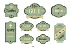 Link toRetro sale tags stickers vector