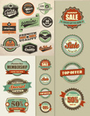 Link toRetro sale tags vector