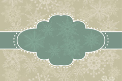 Link toRetro snowflake decorated borders background vector