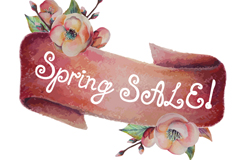 Link toRetro spring flower sale ribbons vector graphics