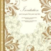 Link toRetro style floral ornament invitation card vector 01 free