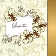 Link toRetro style floral ornament invitation card vector 03 free