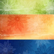 Link toRetro style flower background vector