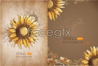 Link toRetro sunflower background vector