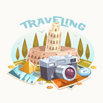 Link toRetro travel camera illustrations vector