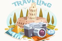 Link toRetro travel camera vector illustration