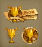 Link toRetro trophy icon vector