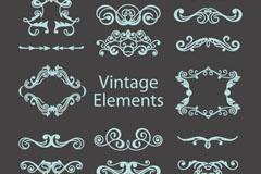 Link toRetro turquoise pattern design vector