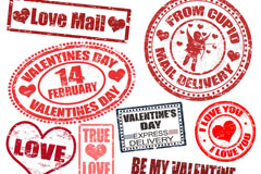 Link toRetro valentine's day postmark vector