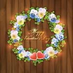 Link toRetro valentine wreath vector