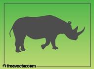 Link toRhinoceros silhouette vector free