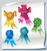 Link toRibbon badge vector