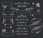 Link toRibbon banner and lace vector