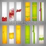Link toRibbon banner background vector