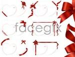 Link toRibbon blank cards vector