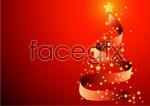 Link toRibbon christmas tree vector