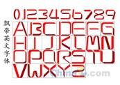 Link toRibbon english fonts vector