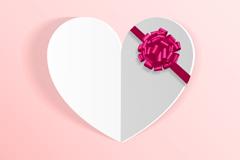 Link toRibbon flower decorated white love vector