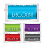 Ribbon sale banner vector