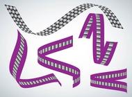 Link toRibbon shapes vector free